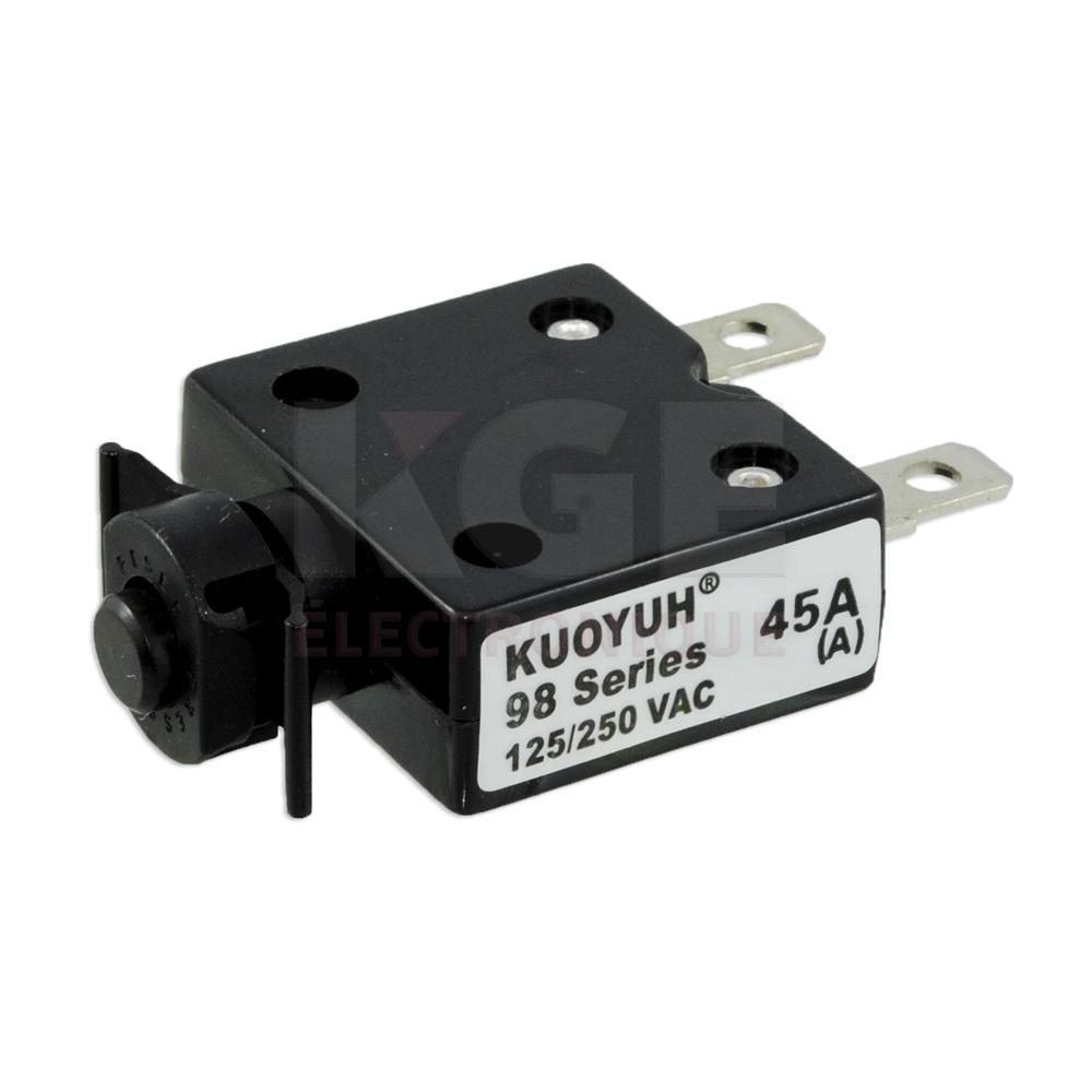 Thermal Circuit Breaker 45a 125 250vac 50vdc Electronics Kge 12v 7a Rectifier Filter Circuits Projects Lectronique