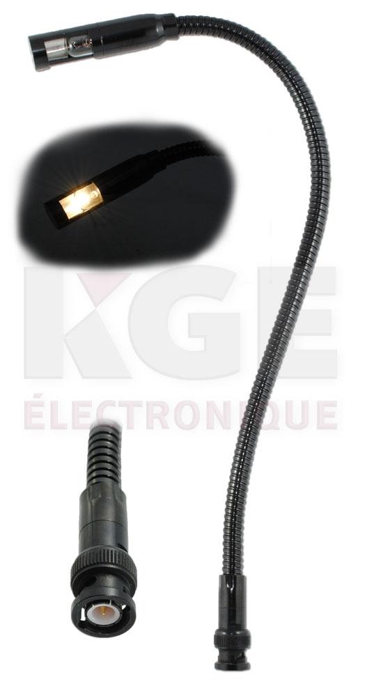 lampe col de cygne pour dj avec prise bnc lectronique kge lectronique. Black Bedroom Furniture Sets. Home Design Ideas