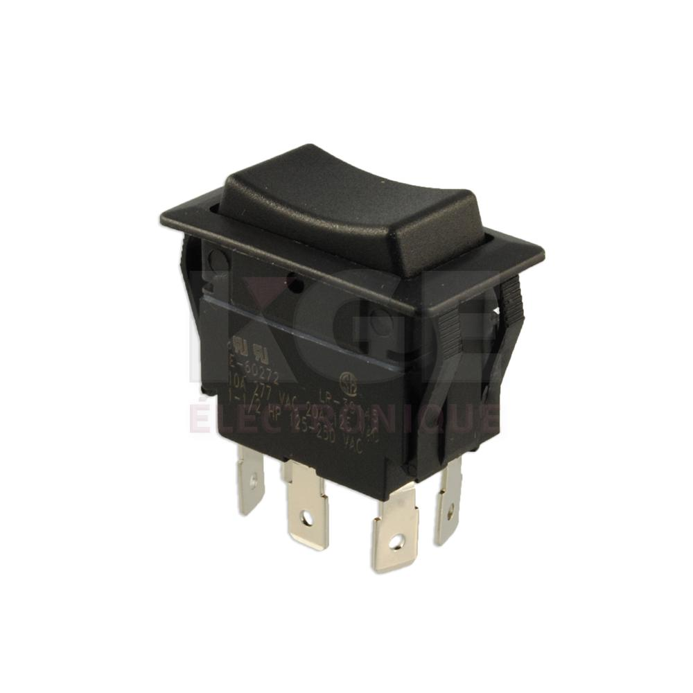 Heavy Duty Dpdt Rocker Switch On Off Electronics Kge Toggle Onoffon