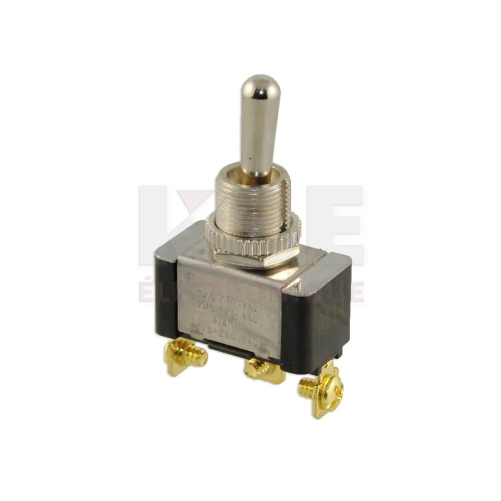 Heavy Duty Toggle Switch Spdt On  Off   On Momentary