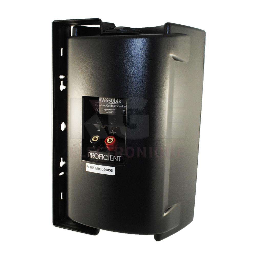 Haut parleur int rieur ext rieur 6 5 8 ohms noir aw650 for Haut parleur exterieur