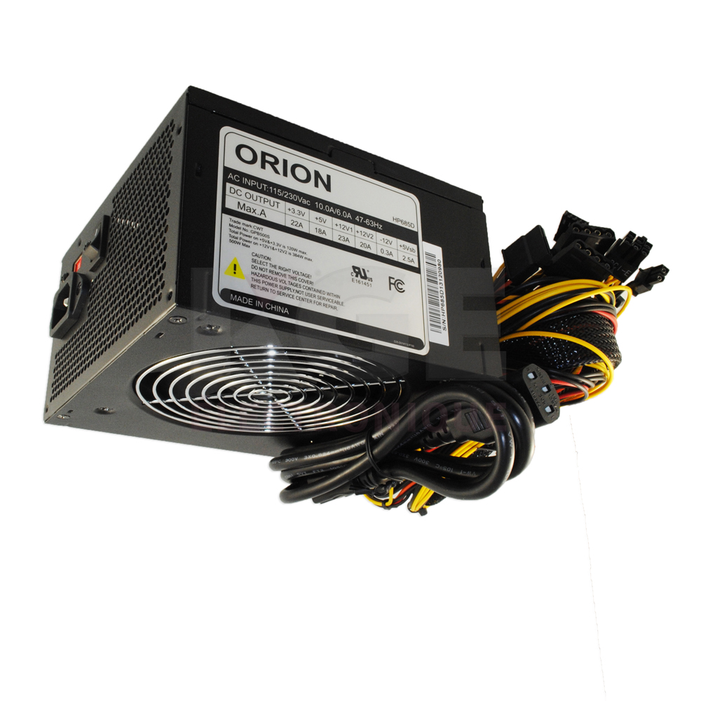 ORION 500W ATX Computer Power Supply - Computing | KGE électronique
