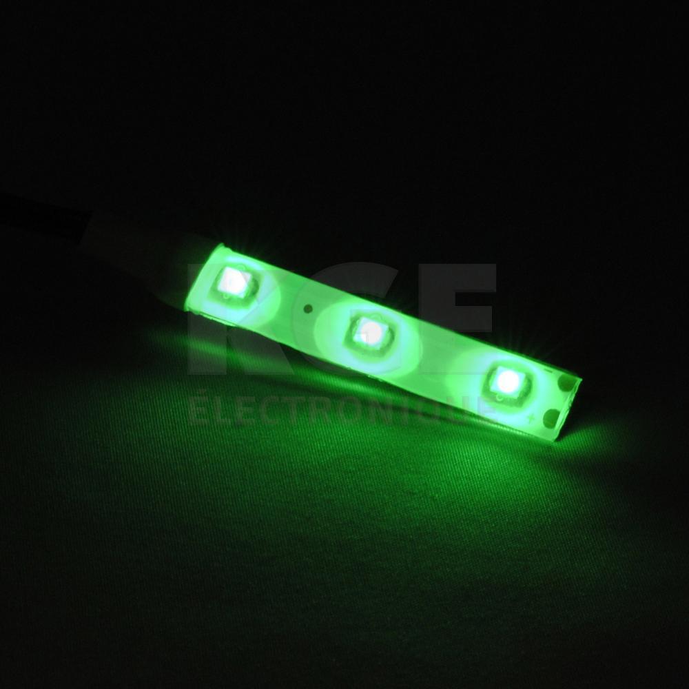 12vdc ip65 3 led strip light green home kge lectronique