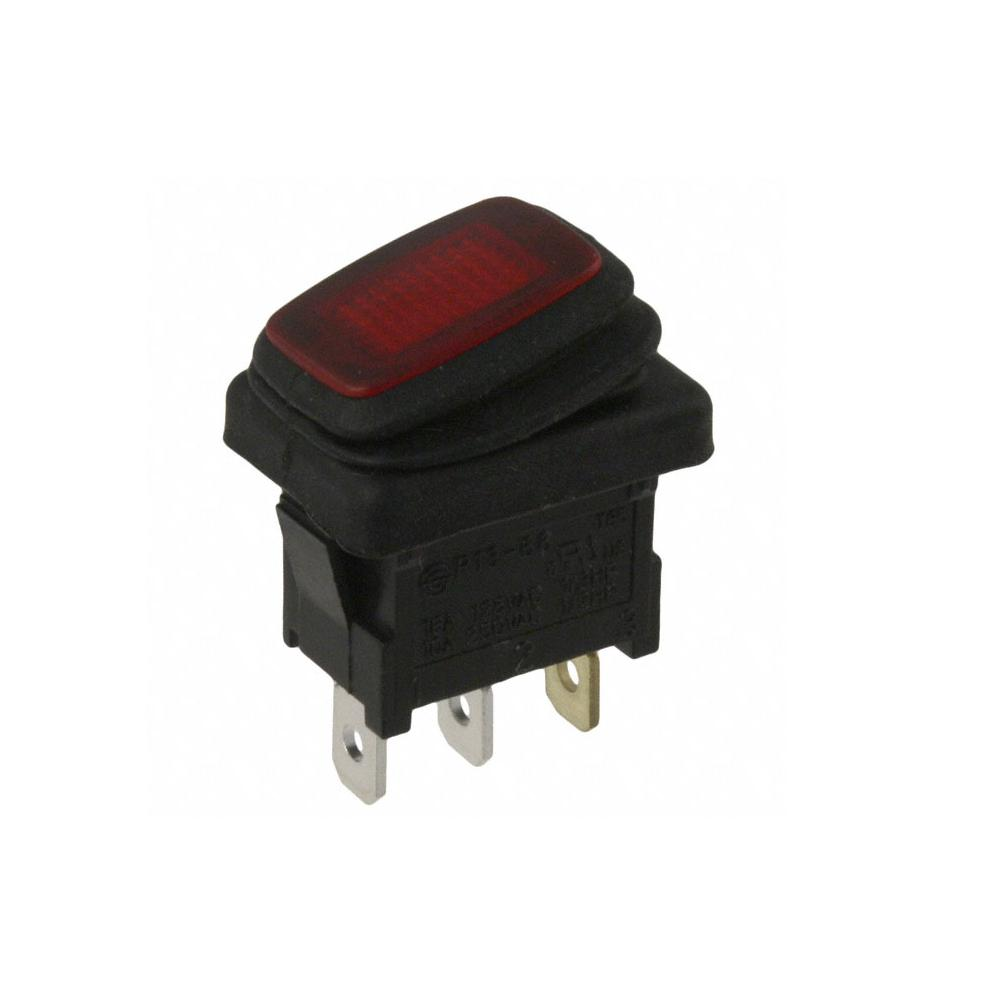 Rocker Switch Spst 16a 125v Red Electronics Kge Lectronique Wiring 125vac