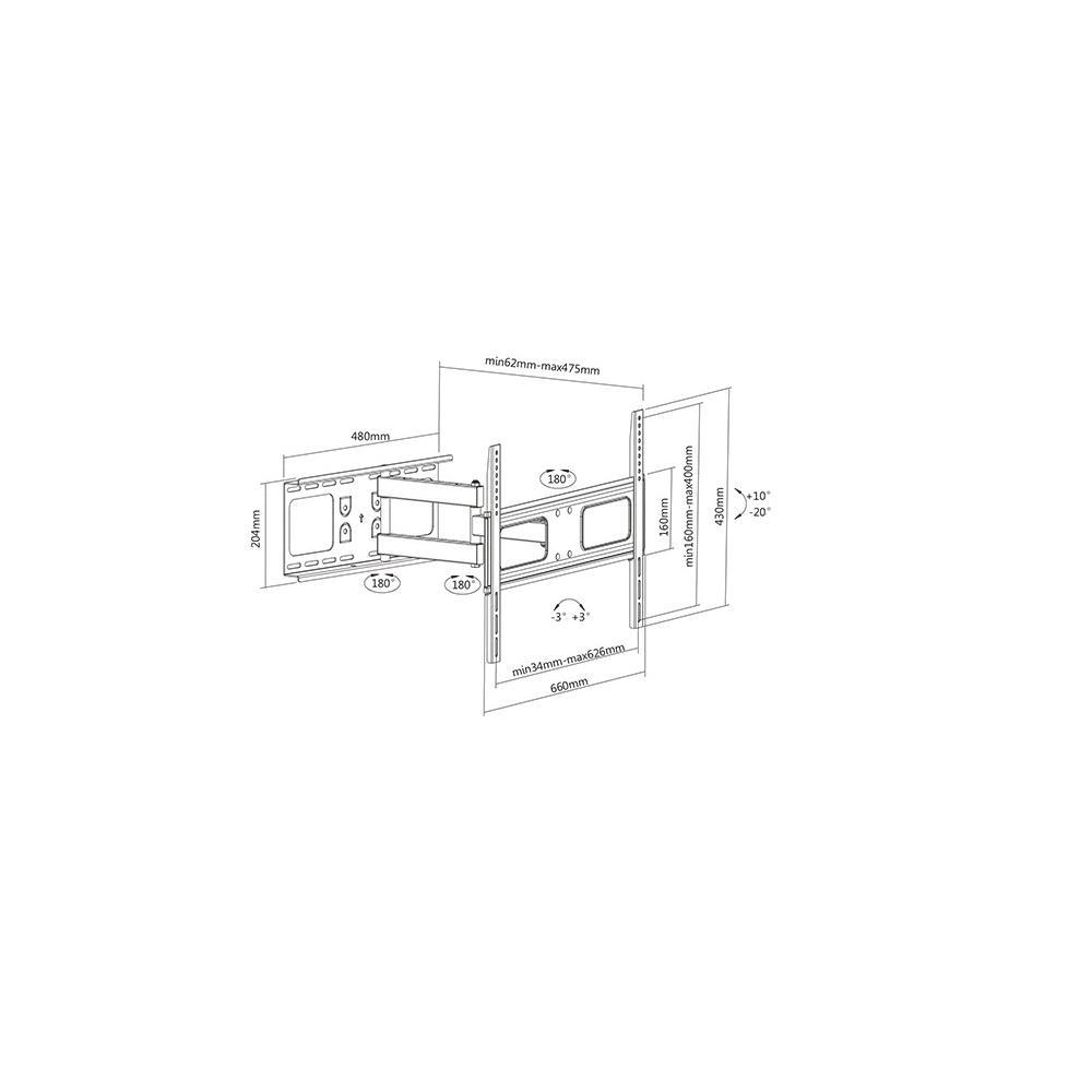 support tv articul 37 70 maison kge lectronique. Black Bedroom Furniture Sets. Home Design Ideas