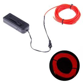 Fil Électro Luminescent (El Wire) 3m - rouge