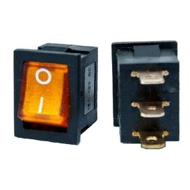 12vdc 16a rocker switch spst on-off - yellow