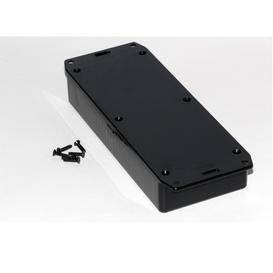 enclosures electronics kge électroniqueabs plastic multipurpose enclosures w card guides black 1591hsflbk