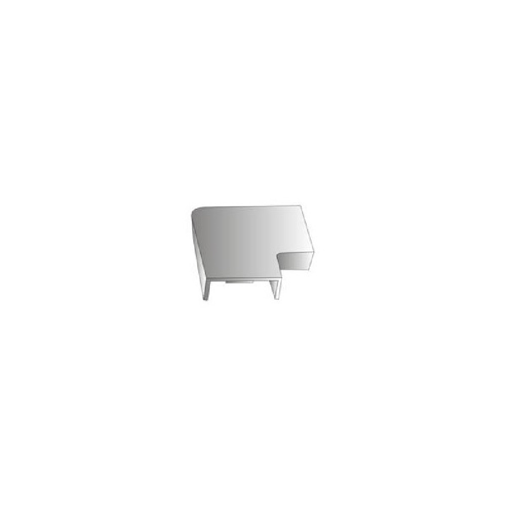 coin plat pour cache fil 39x19mm blanc lectronique kge lectronique. Black Bedroom Furniture Sets. Home Design Ideas