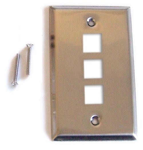 plaque murale 3 ports acier inoxydable maison kge lectronique. Black Bedroom Furniture Sets. Home Design Ideas