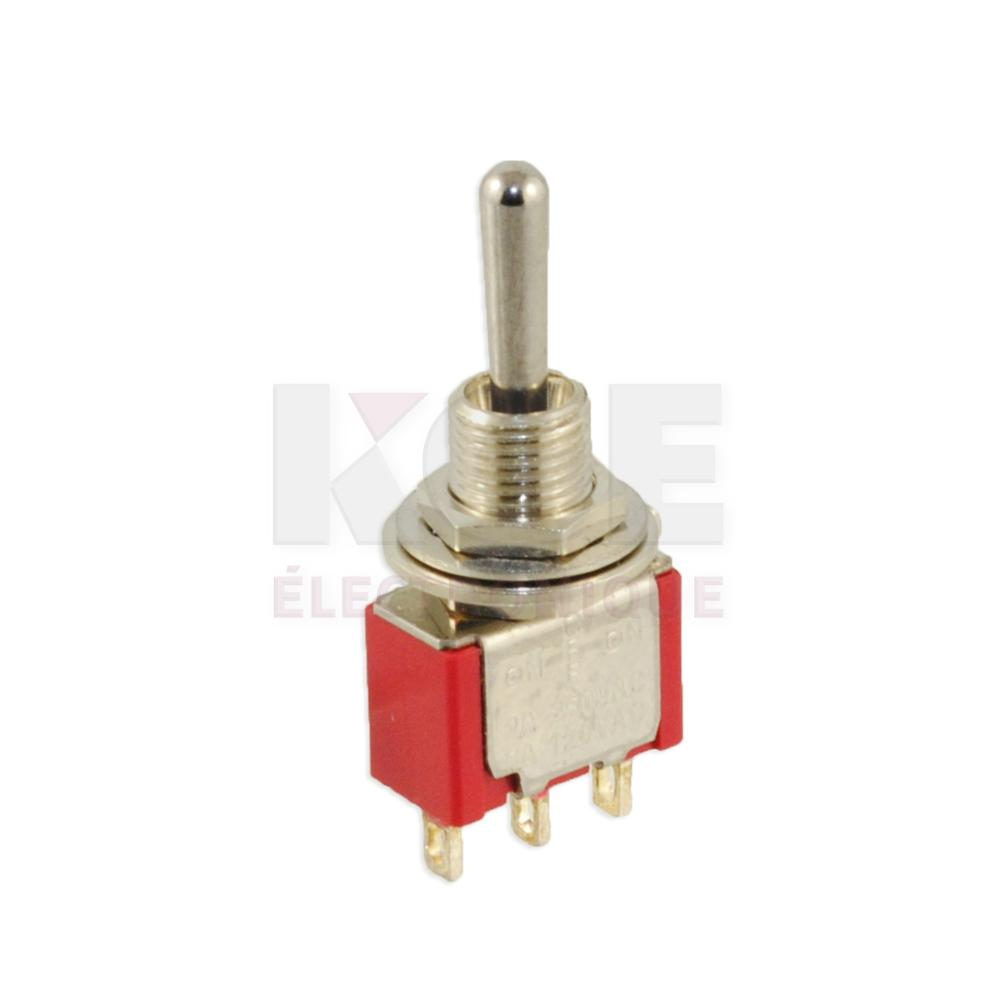 Miniature Spdt Toggle Switch On  Off  On